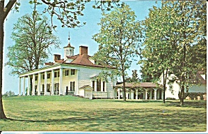 Mt Vernon Va Home Of George Washington Postcard P35656