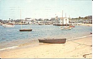 Watch Hill RI Yacht Club Harbor 1958 postcard p35658 (Image1)