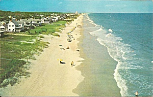 Myrtle Beach Sc Residential Beach Front 1971 Postcard P35664