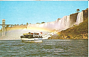 Niagara Falls Maid Of The Mist Postcard P35687