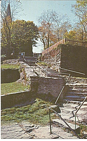 Harper S Ferry Natural Stone Steps Postcard P35699