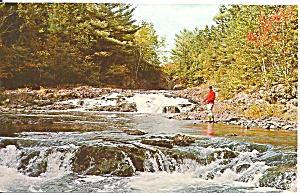 Fish River Falls ME Postcard p35709 1968 (Image1)