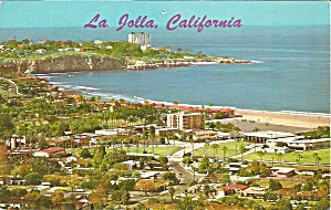 La Jolla CA Aerial View postcard p35748 (Image1)
