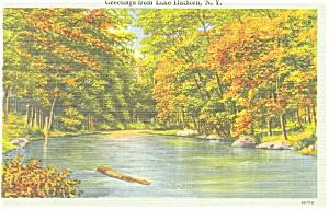 Lake Hathorn NY Postcard p3574 (Image1)