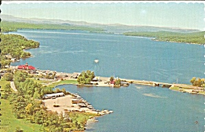 Naples And Long Lake Me Aerial View Postcard P35766