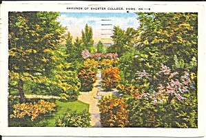 Rome Ga Shorter College Grounds 1951 Postcard P35767