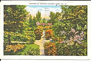 Rome GA Shorter College Grounds 1951 postcard p35767 (Image1)