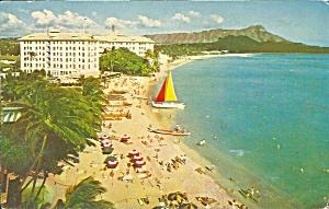 Wakiki HI Moana Hotel postcard p35777 (Image1)