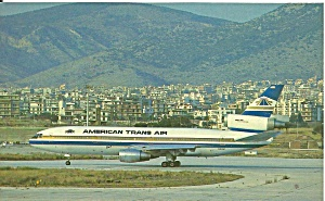 American Trans Air Dc-10 N18at Postcard P35797