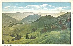 Santa Lucia Mountains CA postcard p35802 (Image1)