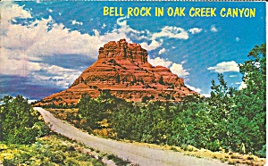 Oak Creek Canyon Az Bell Rock 1972 Postcard P35819
