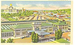 Union RR Station Providence RI Postcard (Image1)