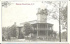 Round Lake NY Museum Postcard p35838 (Image1)