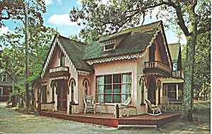 Martha S Vineyard Ma Gingerbread Cottage Postcard P35842 1976