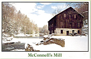 McConnells Mill in Winter Lawrence County PAPostcard p3584 (Image1)