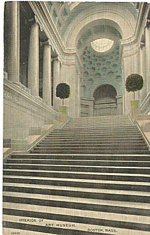 Boston MA Art Museum Interior postcard p35857 (Image1)