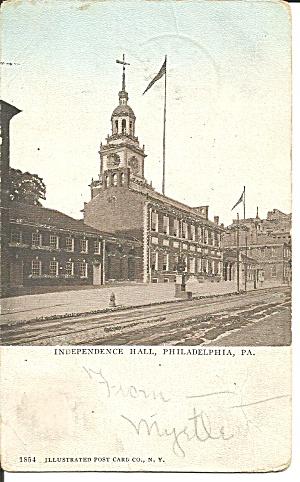Philadelphia PA Independence Hall 1906 postcard p35869 (Image1)