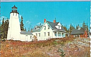 Castine ME Dyce s Head Light postcard p35879 (Image1)