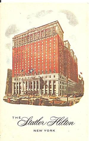 New York City The Statler Hilton postcard p35891 (Image1)