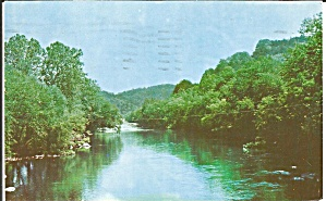 Bryson City NC Tuckaseegee River 1973 postcard p35895 (Image1)