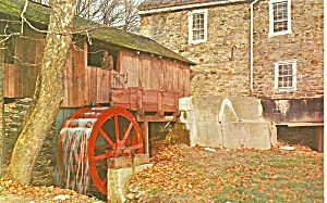 York Pa Water Wheel Menges Mill Postcard P35908