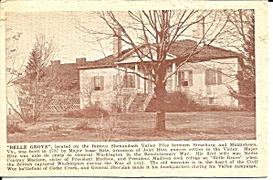 Belle Grove Plantaion Old Mansion in VA postcard p35915 (Image1)