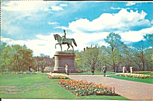 Boston MA Public Gardens Washington Statue p35923 (Image1)