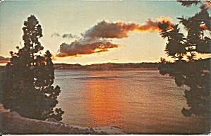 Sunset Over Lake Tahoe postcard p35941 (Image1)