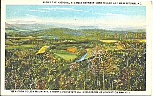 National Highway Hargerstown MD postcard p35954 (Image1)
