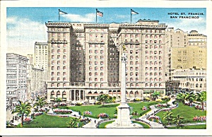 San Francisco CA St Francis Hotel 1935 postcard p35979 (Image1)