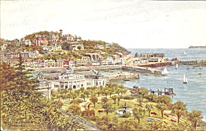 English Harbor Scene From A Water Color Postcard P35980