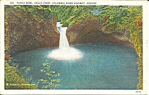Eagle Creek Or Punch Bowl Postcard P35982