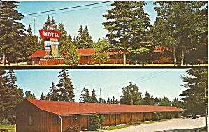 St Ignance MI The Pines Motel postcard p35998 (Image1)