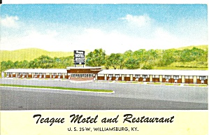 Williamsburg Ky Teague Motel Restaurant P36004