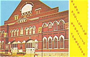 Ryman Auditorium Nashville TN Postcard p3604 (Image1)