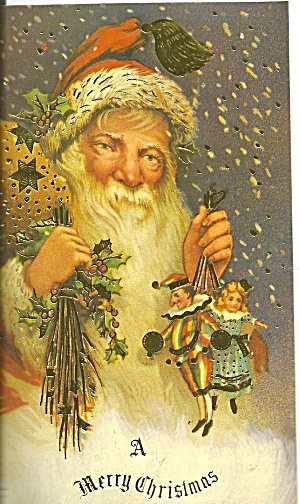 Vintage Christmas Card Reproduction Santa Claus P36055