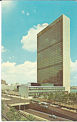 United Nations Headquarters Nyc Postcard P36060