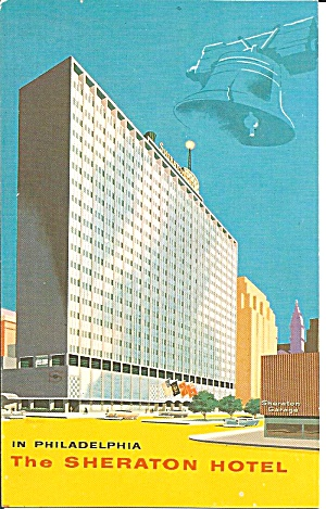 Philadelphia PA Sheraton Hotel postcard p36067 (Image1)