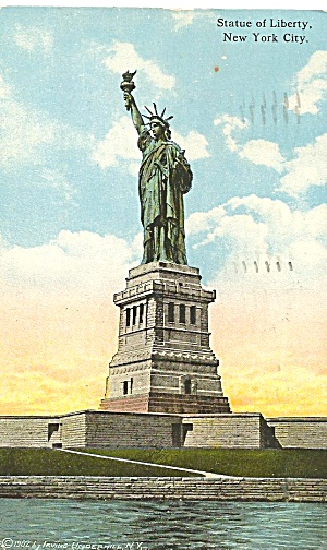 New York City Statue Of Liberty 1921 Postcard P36074