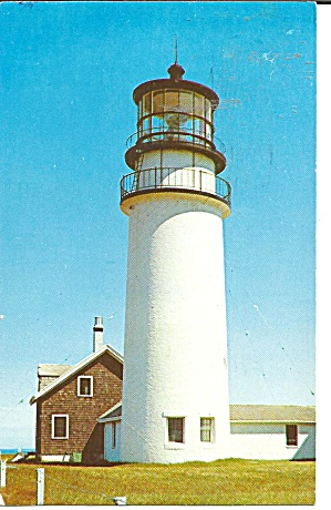 Cape Cod Ma Highland Light Postcard P36077