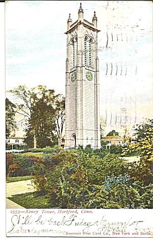 Hartford CT Keney Tower postcard p36086 1906  (Image1)