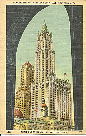 New York City Woolworth Building Postcard P36102