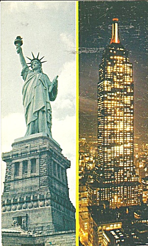 New York City Statue Liberty Empire State Bldg p36116 (Image1)