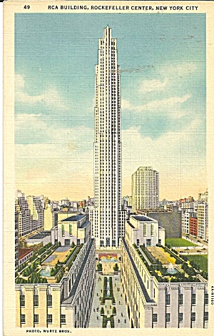 New York City RCA Building postcard p36120 (Image1)