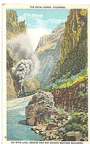 Royal Gorge CO Denver Rio Grande Western RR p36121 (Image1)