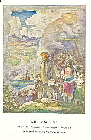 William Penn by N C Wyeth postcard p36143 (Image1)