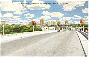 Skyline Fort Worth Texas Postcard (Image1)