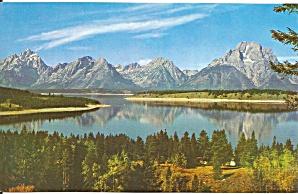 Jackson Lake WY postcard p36180 (Image1)