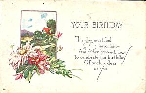 Embossed Birthday postcard p36187 (Image1)