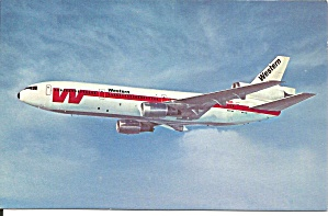 Western Airlines Dc-10 Postcard P36203